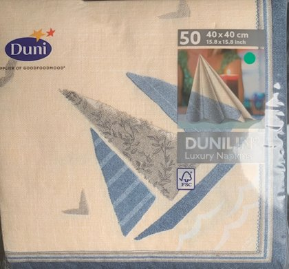40 X 40 Dunilin sea way tekstil serviet 50 stk.