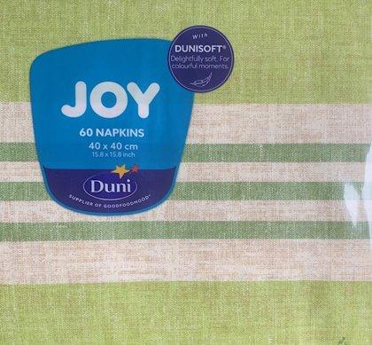 40 x 40 Duni soft , Raya kiwi airlaid tekstilserviet