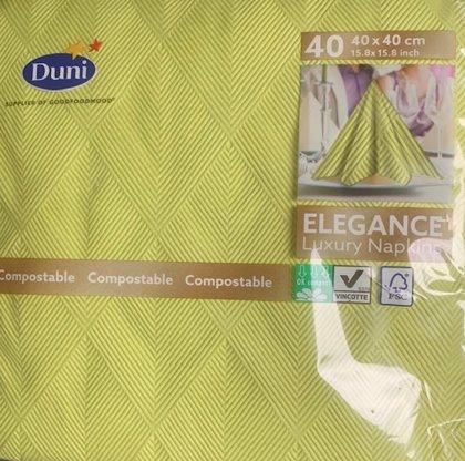 40 x 40 Tekstilserviet duni elegance . Crystal kiwo