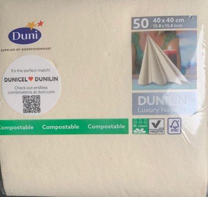 Dunilin cremefarvet tekstilserviet