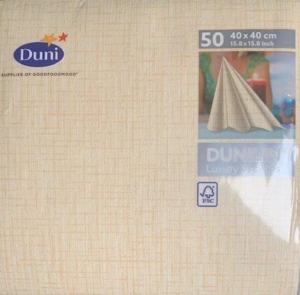Linnea Cream tekstil serviet fra Duni. 50 stk