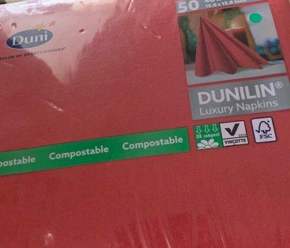 40 x 40 Dunilin tekstilserviet rød. 50 stk