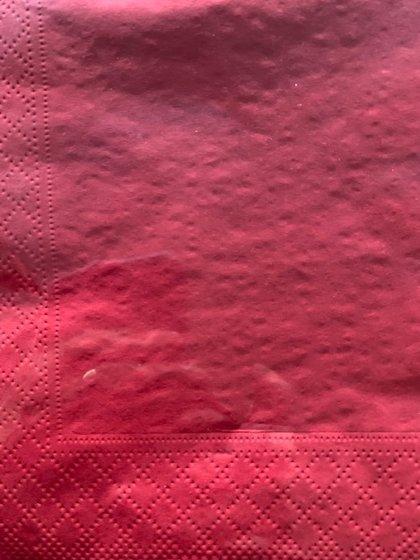 33x33  3 lags serviet . Rød.  20 stk