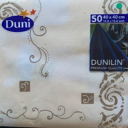 40  x 40 dunilin tekstil serviet . Champagne Guld motiv